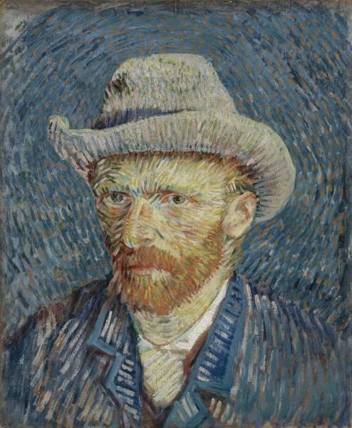 Автопортрет в Музее Ван Гога в Амстердаме