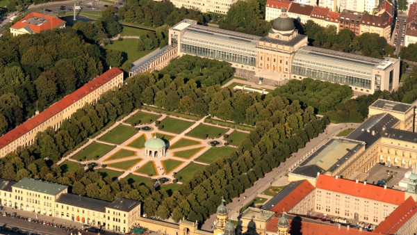 Мюнхенский парк Хофгартен с высоты птичьего полета