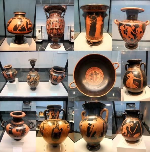 Знаменитая греческая керамика в государственном античном собрании в Мюнхене