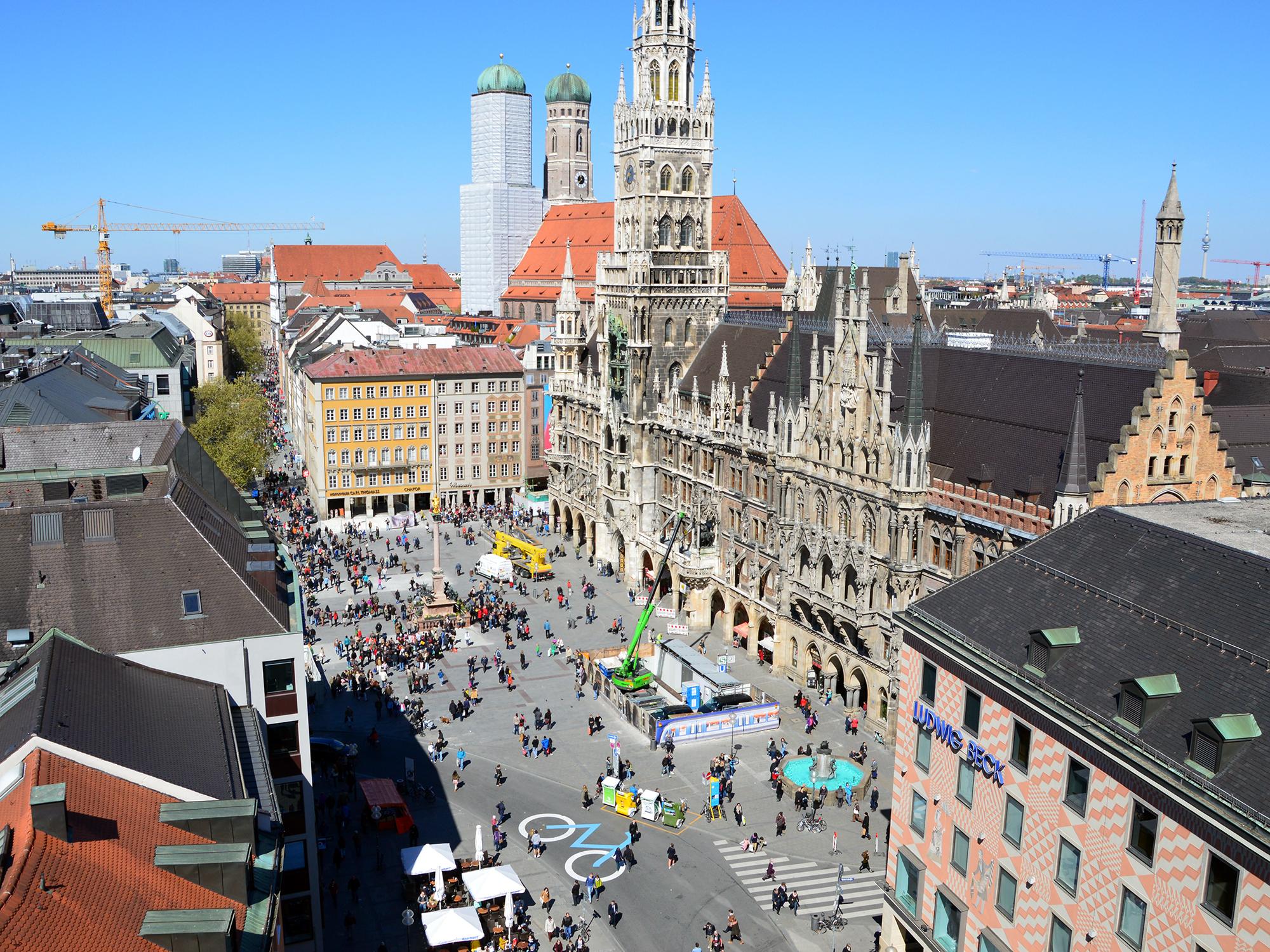 мюнхен город фотографии печатается натуральном хлопковом
