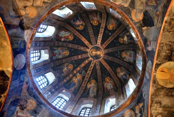 Купол монастыря Хора в Стамбуле