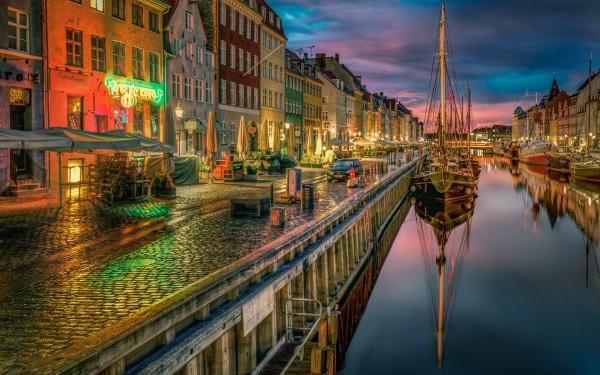 Гавань очень уютное место в Копенгагене