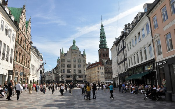 Площадь Амагер Торв в Копенгагене