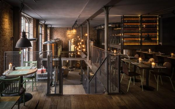 Уютный интерьер Ресторана Нерребро Бригус в Копенгагене