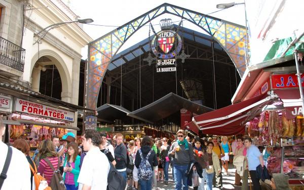 Вход на рынок Бокерия в Барселоне