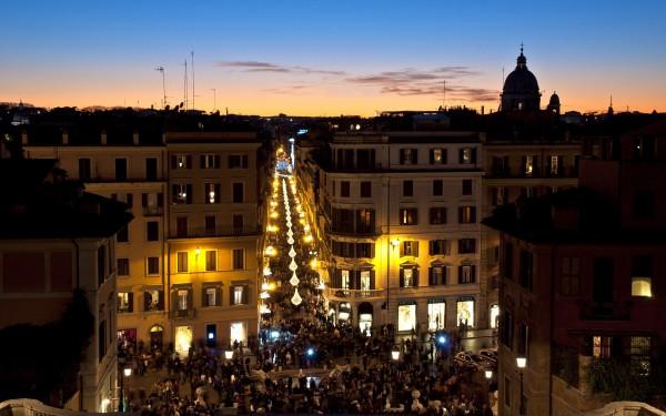Улицы Рима на закате