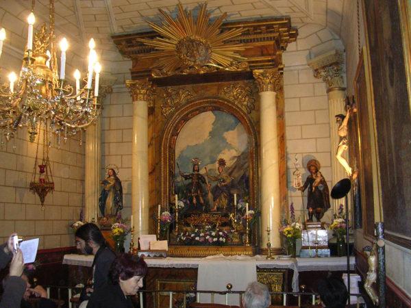 Внутри ЦерковиСан-Исидро в Мадриде