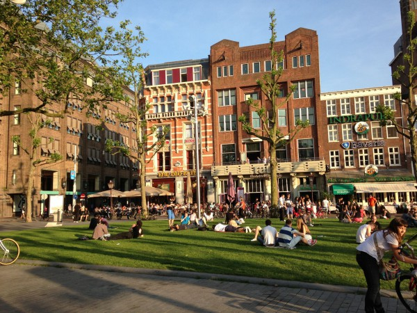 Площадь Рембрандта в Амстердаме