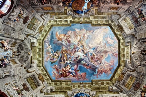 Роспись потолка Бельведера