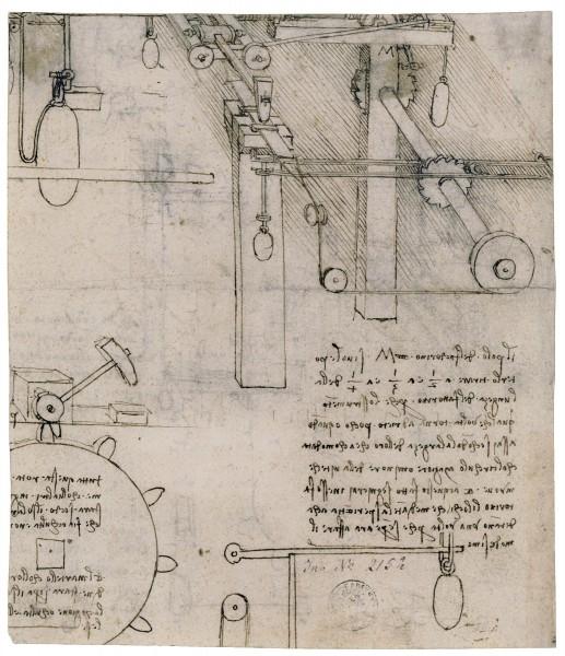 Чертеж Леонардо Да Винчи процесса переработки золота в Государственном графическом собрании в Мюнхене
