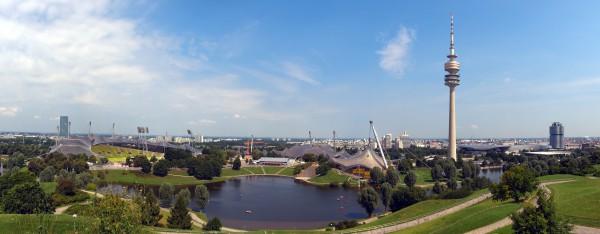 Вид на олимпийский стадион Мюнхена