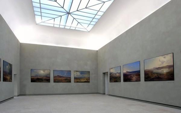 Зал в стиле модерна Новой пинакотеки в Мюнхене