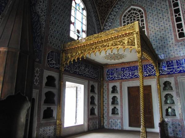 Убранство комнат Дворца Топкапы в Стамбуле