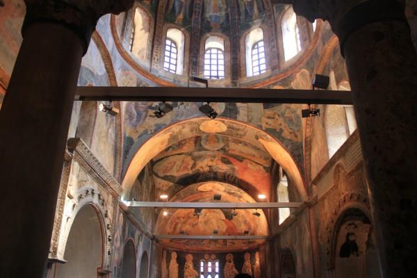 Прекрасные византийские фрески в монастыре Хора в Стамбуле