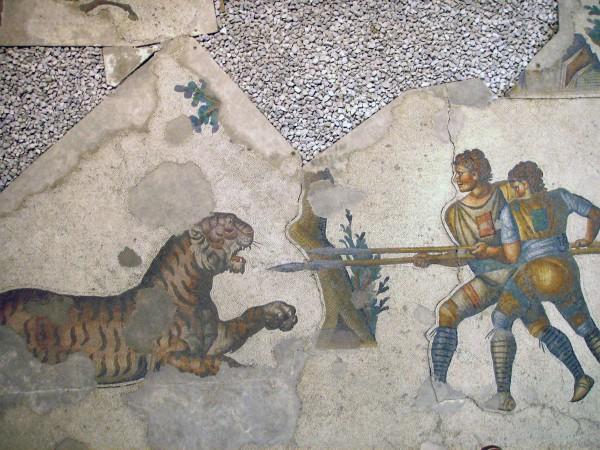 Мозаика в музее мозаик в Стамбуле