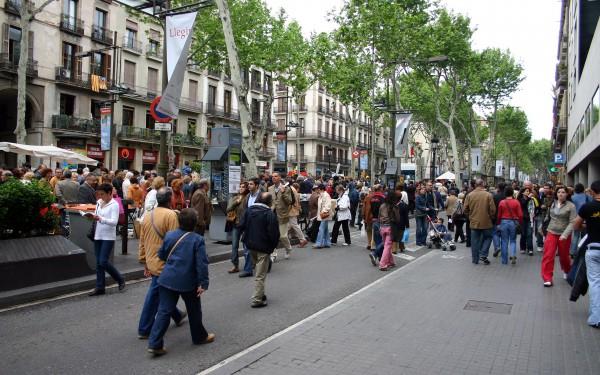 Улица Рамблас в Барселоне
