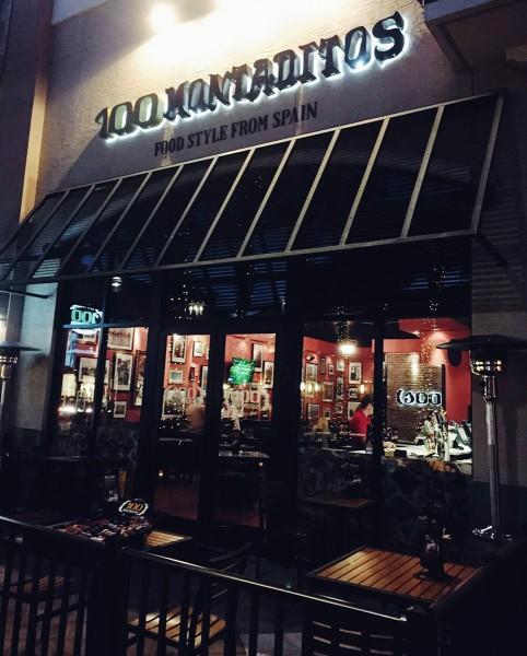 Обед в пивоварне 100 Montaditos в Барселоне