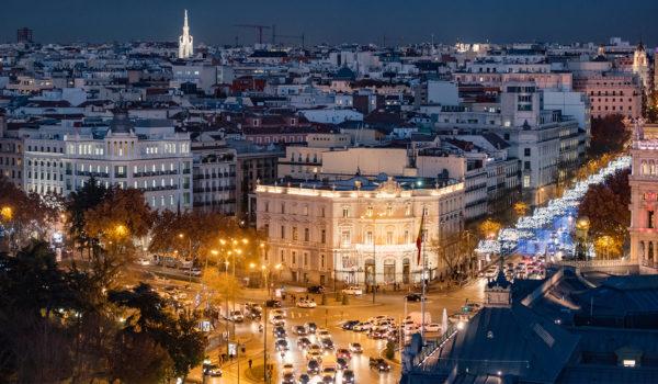 Вечерний вид на Мадрид