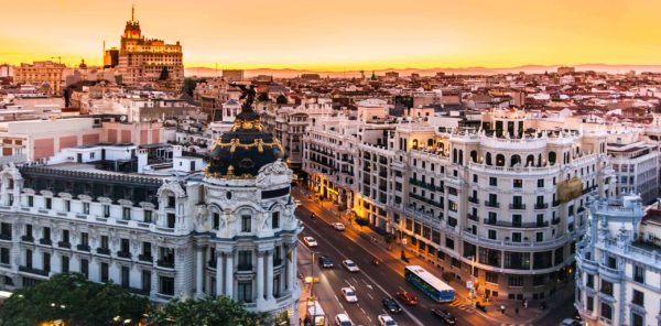 Закат в Мадриде
