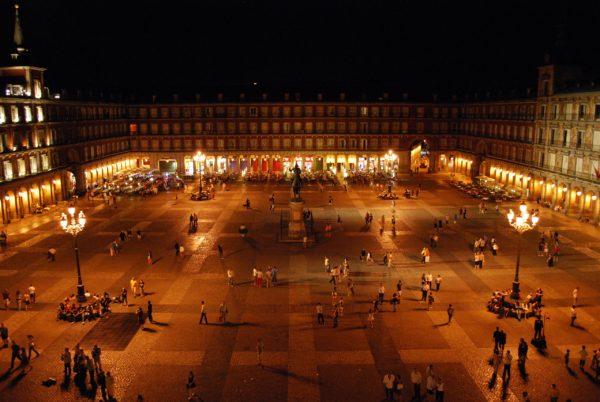 Вечер на площади Пласа Майор