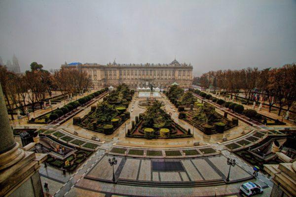 Панорама Восточной площади в Мадриде